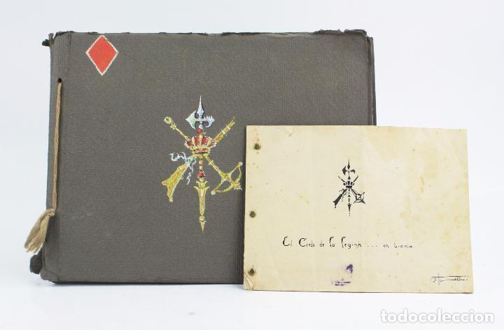 CUADERNO DE DIBUJOS LEGIONARIOS, EL CREDO DE LA LEGIÓN, 1930'S, MELILLA. VER FOTOS ANEXAS. (Militar - Propaganda y Documentos)