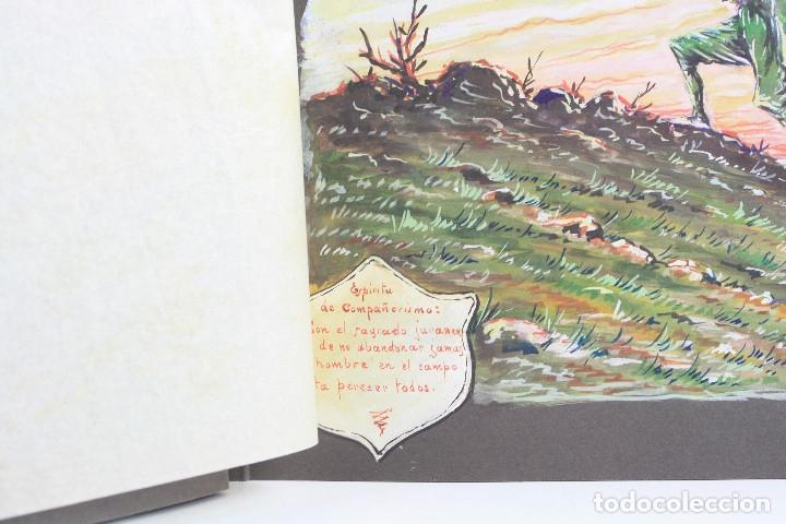Militaria: Cuaderno de dibujos legionarios, el credo de la legión, 1930s, Melilla. Ver fotos anexas. - Foto 6 - 152155086