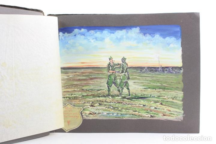 Militaria: Cuaderno de dibujos legionarios, el credo de la legión, 1930s, Melilla. Ver fotos anexas. - Foto 7 - 152155086