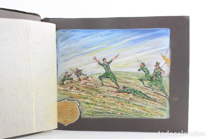 Militaria: Cuaderno de dibujos legionarios, el credo de la legión, 1930s, Melilla. Ver fotos anexas. - Foto 8 - 152155086