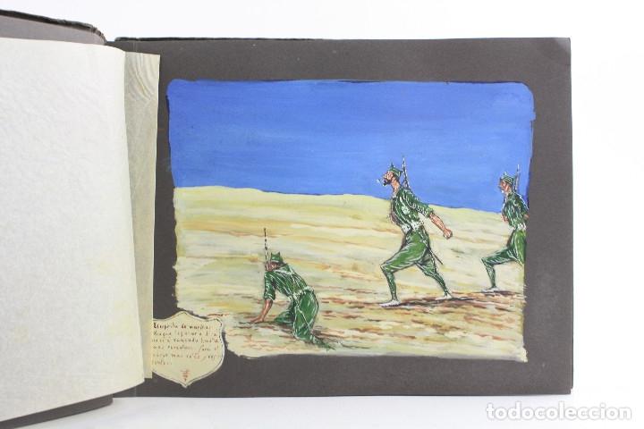 Militaria: Cuaderno de dibujos legionarios, el credo de la legión, 1930s, Melilla. Ver fotos anexas. - Foto 9 - 152155086