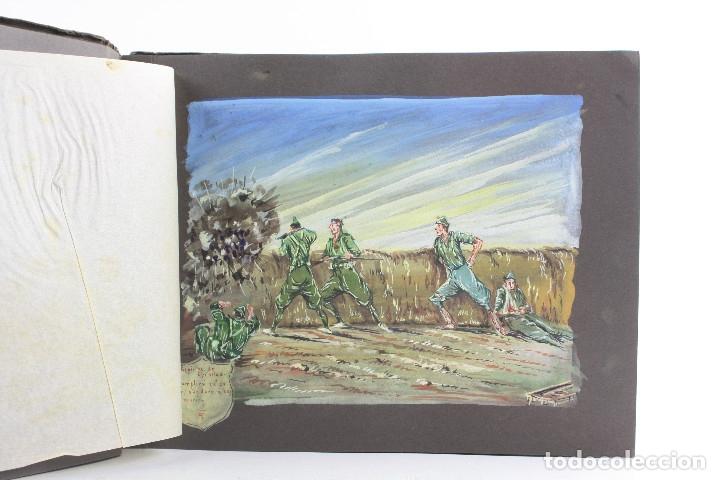 Militaria: Cuaderno de dibujos legionarios, el credo de la legión, 1930s, Melilla. Ver fotos anexas. - Foto 10 - 152155086
