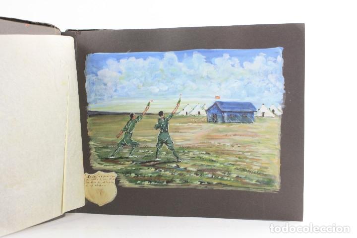 Militaria: Cuaderno de dibujos legionarios, el credo de la legión, 1930s, Melilla. Ver fotos anexas. - Foto 11 - 152155086