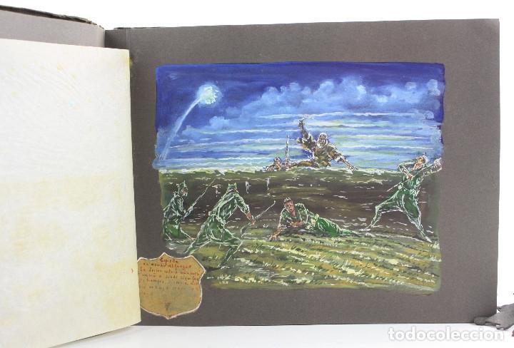 Militaria: Cuaderno de dibujos legionarios, el credo de la legión, 1930s, Melilla. Ver fotos anexas. - Foto 13 - 152155086
