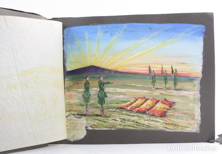 Militaria: Cuaderno de dibujos legionarios, el credo de la legión, 1930s, Melilla. Ver fotos anexas. - Foto 15 - 152155086