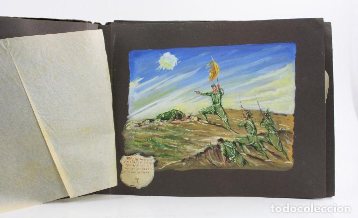 Militaria: Cuaderno de dibujos legionarios, el credo de la legión, 1930s, Melilla. Ver fotos anexas. - Foto 16 - 152155086