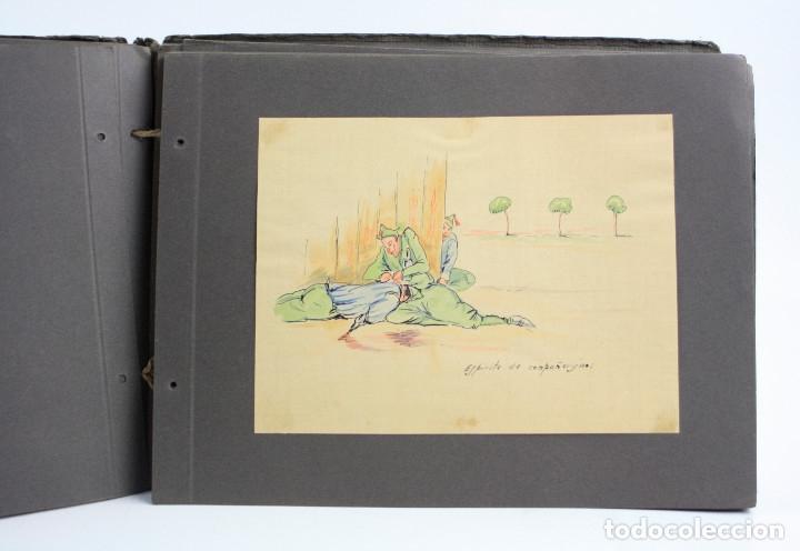 Militaria: Cuaderno de dibujos legionarios, el credo de la legión, 1930s, Melilla. Ver fotos anexas. - Foto 19 - 152155086