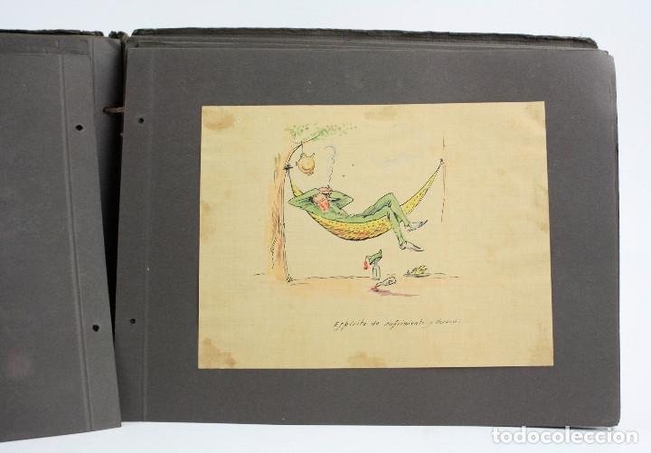 Militaria: Cuaderno de dibujos legionarios, el credo de la legión, 1930s, Melilla. Ver fotos anexas. - Foto 25 - 152155086