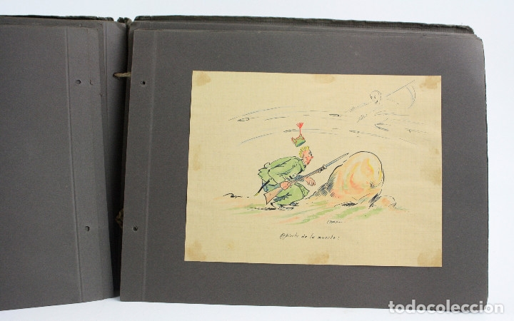 Militaria: Cuaderno de dibujos legionarios, el credo de la legión, 1930s, Melilla. Ver fotos anexas. - Foto 27 - 152155086