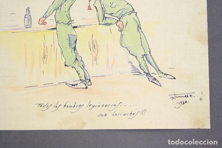 Militaria: Cuaderno de dibujos legionarios, el credo de la legión, 1930s, Melilla. Ver fotos anexas. - Foto 30 - 152155086