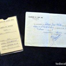 Militaria: HELIPUERTO DE SANTA ANA (CARTAGENA), 1968. AUTORIZACIÓN Y LIBRETA DE DESTINO. SERVICIO MILITAR. Lote 152430202