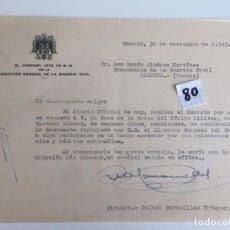 Militaria: RAFAEL CAVANILLAS PRÓSPER , CORONEL JEFE GUARDIA CIVIL , MADRID 1949 , CONCESIÓN DE MEDALLA MILITAR . Lote 152874906