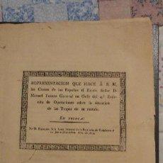 Militaria: REPRESENTACION A S.M. GENERAL MANUEL FREYRE.GUERRA INDEPENDENCIA TOLOSA 1814.CARMONA. Lote 152969766