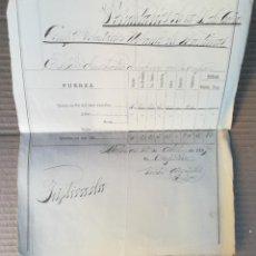 Militaria: COMPOSICIÓN FUERZA COMPAÑÍA VOLUNTARIOS URBANOS DE MARTINAS 1897 - VOLUNTARIOS ISLA DE CUBA. Lote 153391886