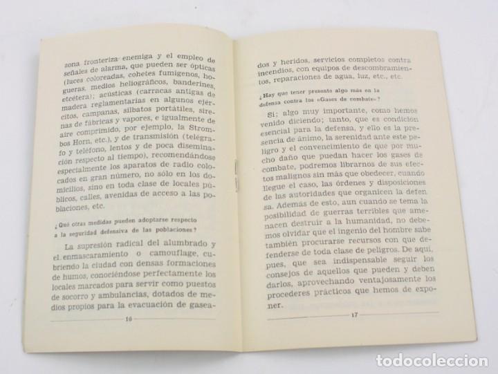 Militaria: Cartilla popular divulgadora sobre los efectos de los gases de guerra, 1937, Guerra Civil, Valencia. - Foto 4 - 153940430