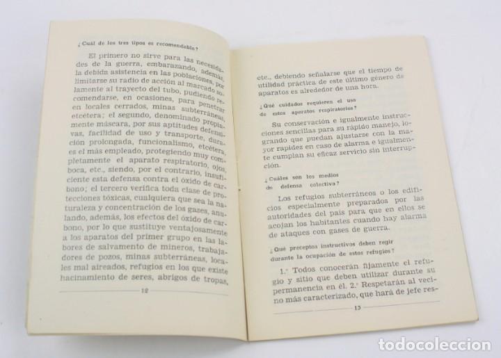 Militaria: Cartilla popular divulgadora sobre los efectos de los gases de guerra, 1937, Guerra Civil, Valencia. - Foto 5 - 153940430