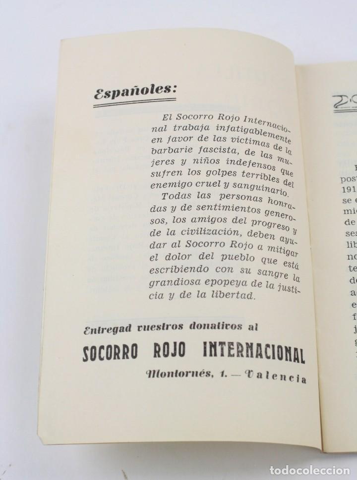 Militaria: Cartilla popular divulgadora sobre los efectos de los gases de guerra, 1937, Guerra Civil, Valencia. - Foto 6 - 153940430