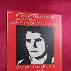 Militaria: PEGATINA POLITICA. XAVIER VERMEJO LUCAS. XOVEN GARDA ROXA. SIN PEGAR. Lote 154567078