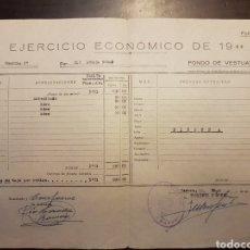 Militaria: EJERCICIO ECONÓMICO GUARDIA CIVIL 1966. Lote 154567914