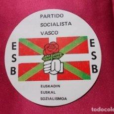 Militaria: PEGATINA POLITICA. PARTIDO SOCIALISTA VASCO. ESB. . Lote 154714478