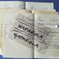 Militaria: 4 DOCUMENTOS 1917 BATALLÓN 2ª RESERVA DE BURGOS Nº 38 ASIGNACIÓN OFICIAL CAUSA SEDICIÓN COACCIÓN. Lote 154714938