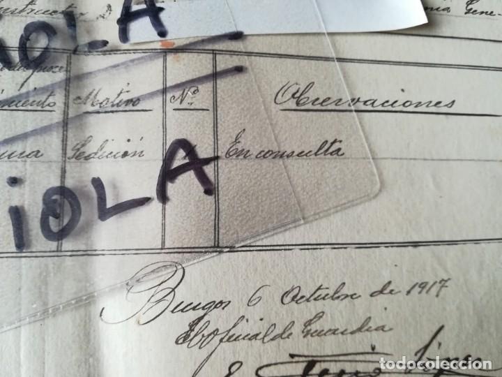 Militaria: 4 DOCUMENTOS 1917 BATALLÓN 2ª RESERVA DE BURGOS Nº 38 ASIGNACIÓN OFICIAL CAUSA SEDICIÓN COACCIÓN - Foto 4 - 154714938