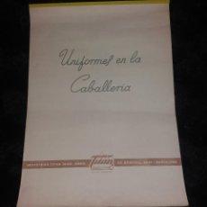 Militaria: MILITAR. CALENDARIO DE PARED. UNIFORMES EN LA CABALLERÍA, TITÁN PINTURAS, 1970. Lote 154867338