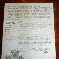 Militaria: 1814, FERNANDO VII, GUERRA DE LA INDEPENDENCIA, PASAPORTE A CAPITAN DEL PRIMER BATALLON DE TIRADORES. Lote 155098682