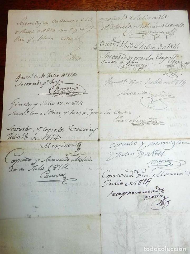 Militaria: 1814, FERNANDO VII, GUERRA DE LA INDEPENDENCIA, PASAPORTE A CAPITAN DEL PRIMER BATALLON DE TIRADORES - Foto 4 - 155098682
