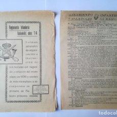 Militaria: DOCUMENTOS ORDEN DE PLAZA MAYO 1931 Y ORGANIZACIÓN DE RECLUTAS REG. INFANTERÍA VALLADOLID Nº 74. Lote 155132446