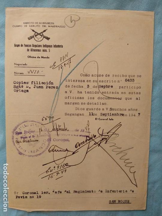 OFICIO ESCRITO REMISION REGULARES (Militar - Propaganda y Documentos)