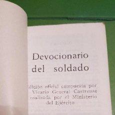 Militaria: DEVOCIONARIO DEL SOLDADO. 1968. Lote 155287602