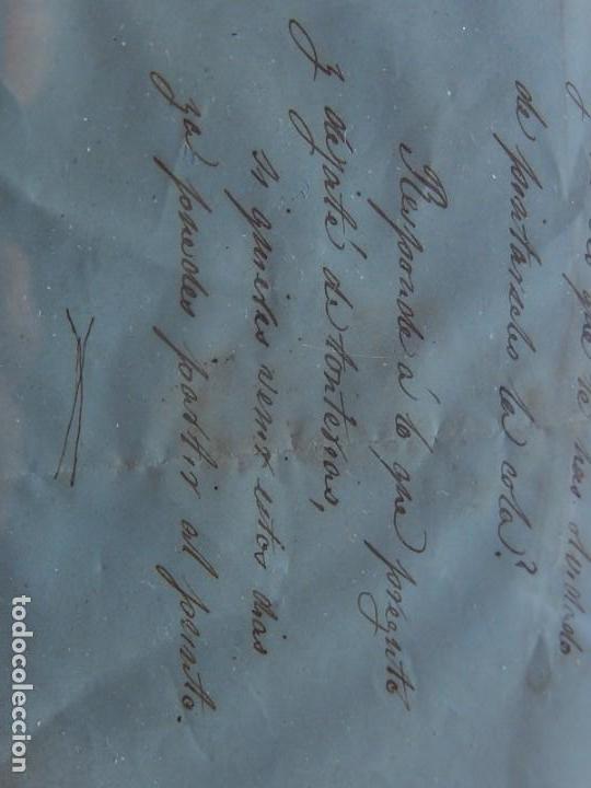 Militaria: Soldado Infantería. Antiguo dibujo soldado, con lo que parece una poesía o escrito. Desconozco Época - Foto 7 - 155358246