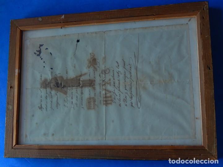 Militaria: Soldado Infantería. Antiguo dibujo soldado, con lo que parece una poesía o escrito. Desconozco Época - Foto 8 - 155358246