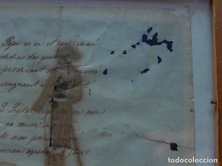Militaria: Soldado Infantería. Antiguo dibujo soldado, con lo que parece una poesía o escrito. Desconozco Época - Foto 10 - 155358246