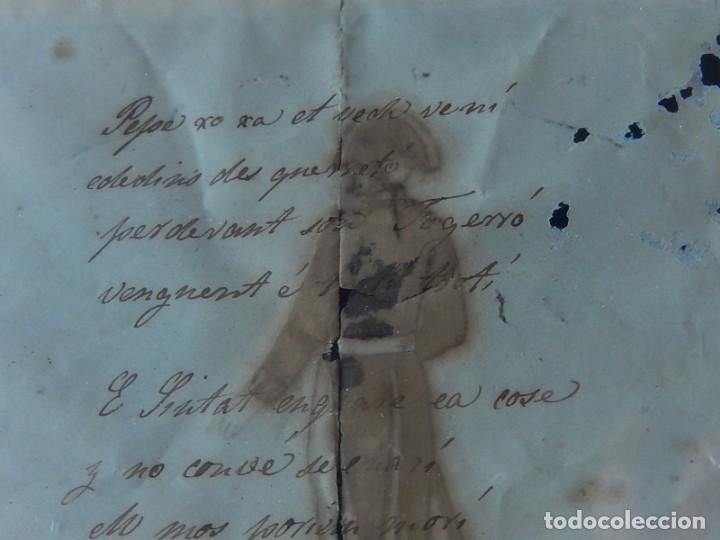 Militaria: Soldado Infantería. Antiguo dibujo soldado, con lo que parece una poesía o escrito. Desconozco Época - Foto 11 - 155358246