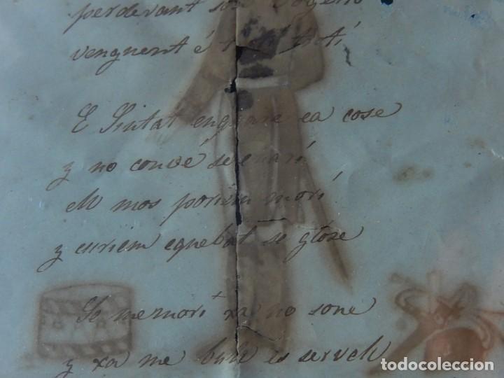 Militaria: Soldado Infantería. Antiguo dibujo soldado, con lo que parece una poesía o escrito. Desconozco Época - Foto 12 - 155358246