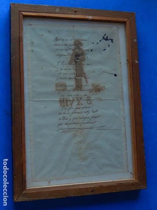 Militaria: Soldado Infantería. Antiguo dibujo soldado, con lo que parece una poesía o escrito. Desconozco Época - Foto 17 - 155358246