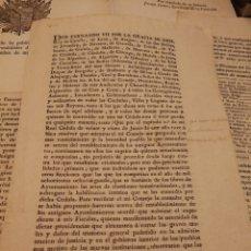 Militaria: DOCUMENTO ORIGINAL DE DEROGACION DE LOS AYUNTAMIENTOS POR FENÓMENO VII.1814. Lote 155400922