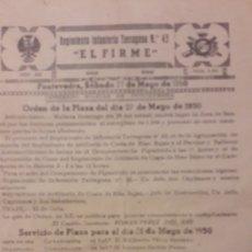 Militaria: EL FIRME REGIMIENTO INFANTERIA TARRAGONA N 43 1959 PONTEVEDRA ORDENES REVISTA 6 HOJAS. Lote 155594192