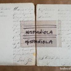 Militaria: 2 DOCUMENTOS COMPAÑÍA VOLUNTARIOS DE MARTINAS CUBA. Lote 155616130