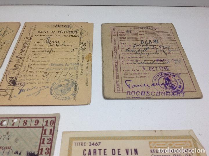 Militaria: SABADELL - CARTILLAS DE RACIONAMIENTO DE UN REFUGIADO O EXILIADO ESPAÑOL EN PARIS AÑOS 40 - FRANCIA - Foto 3 - 155655642