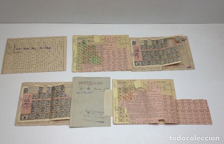 Militaria: SABADELL - CARTILLAS DE RACIONAMIENTO DE UN REFUGIADO O EXILIADO ESPAÑOL EN PARIS AÑOS 40 - FRANCIA - Foto 7 - 155655642