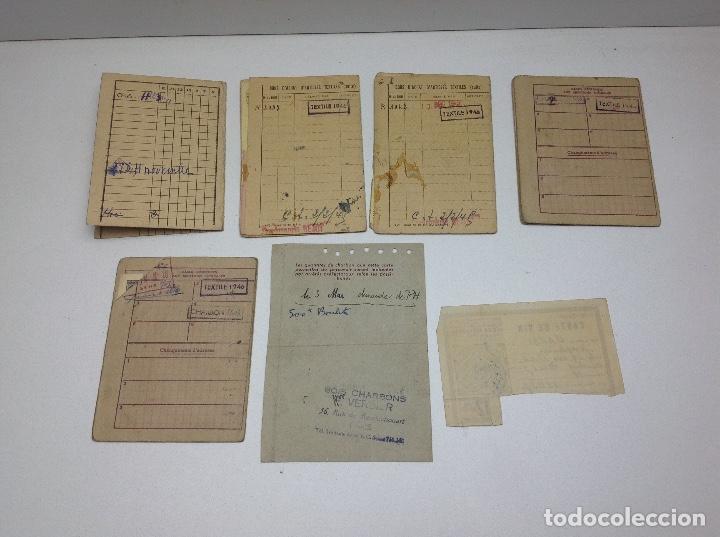 Militaria: SABADELL - CARTILLAS DE RACIONAMIENTO DE UN REFUGIADO O EXILIADO ESPAÑOL EN PARIS AÑOS 40 - FRANCIA - Foto 11 - 155655642