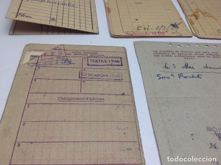 Militaria: SABADELL - CARTILLAS DE RACIONAMIENTO DE UN REFUGIADO O EXILIADO ESPAÑOL EN PARIS AÑOS 40 - FRANCIA - Foto 12 - 155655642