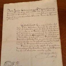 Militaria: GUERRA DE CUBA NOMBRAMIENTO SARGENTO BATALLON CAZADORES ARAPILES NUM 9 EN 1898. Lote 155665838