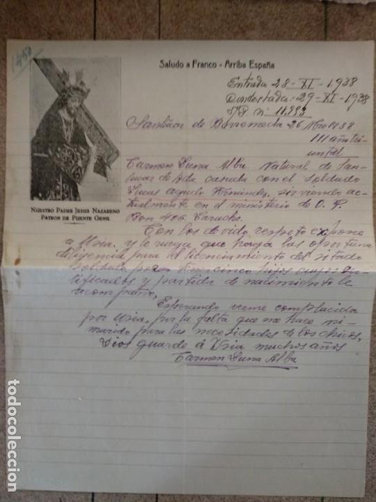 CARTA GUERRA CIVIL 1938 (Militar - Propaganda y Documentos)