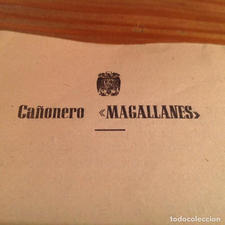 CAÑONERO MAGALLANES. CORRESPONDENCIA TRIPULANTE,MEMBRETE OFIAL BARCO. 1950. CARTAGENA. (Militar - Propaganda y Documentos)