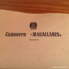 Militaria: CAÑONERO MAGALLANES. CORRESPONDENCIA TRIPULANTE,MEMBRETE OFIAL BARCO. 1950. CARTAGENA.. Lote 156005298