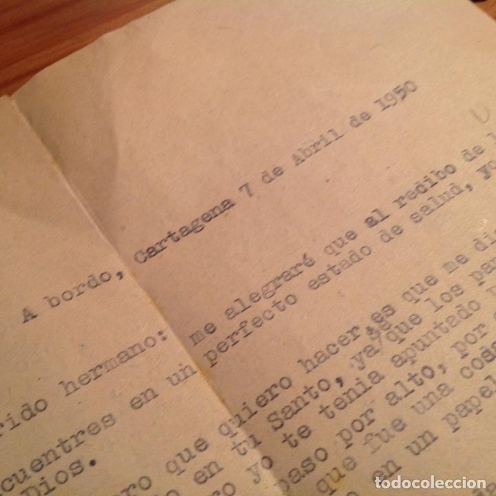 Militaria: Cañonero Magallanes. Correspondencia tripulante,membrete ofial barco. 1950. Cartagena. - Foto 4 - 156005298